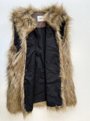 Pimkie Futrzana kurtka Wielokolorowy Tkanina z mieszanych włókien