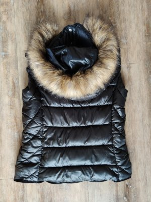 Zara Quilted Gilet black synthetic