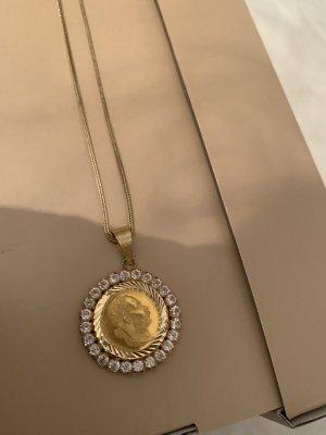 Wunderschöne Goldkette mit echte Kristallsteine und echtes Gold❗️
