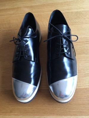 Miu Miu Lace Shoes black-silver-colored
