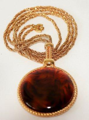 Christian Dior Collier brun-brun sable métal