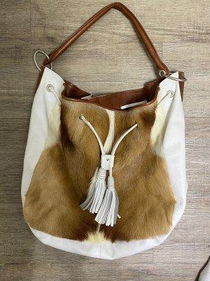 Wunderschöne Handtasche Hobobag echt Leder Springbock Tasseln Np 259€