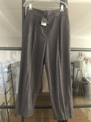 Massimo Dutti Woolen Trousers black-light brown