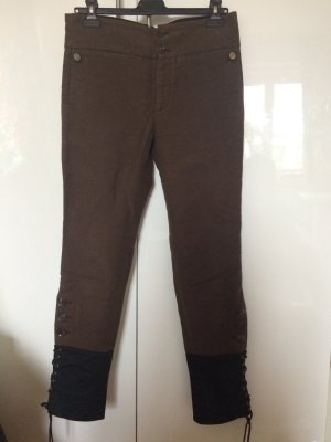 Wunderschöne Hose von GUCCI aus Baumwolle in braun schwarz 40