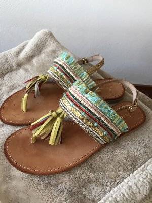 Sommerkind Toe-Post sandals multicolored leather