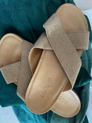 Inuovo Dianette Sandals gold-colored leather