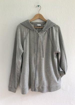 Escada Sport Veste à capuche argenté-gris clair coton