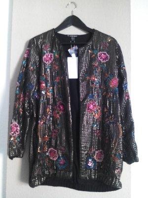 wunderschöne Jacke mit Paillettenstickerei, Special Edition, Festival-Jacke, Größe S-M neu