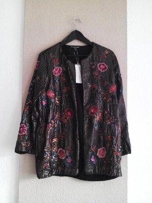 wunderschöne Jacke mit Paillettenstickerei, Special Edition, Größe S-M neu