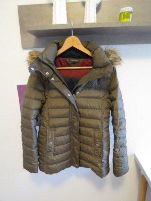 Wunderschöne Khaki Beige-Braune Daunenjacke Tommy Hilfiger Winter fast nie getragen S
