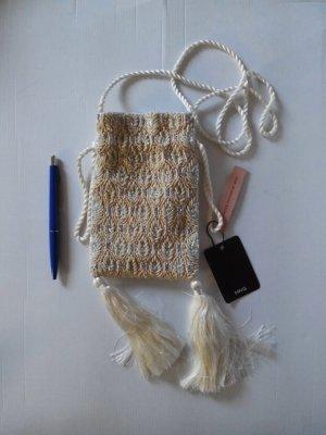 wunderschöne kleine Abendtasche mit Schmucksteinverzierung, Limited Edition, neu