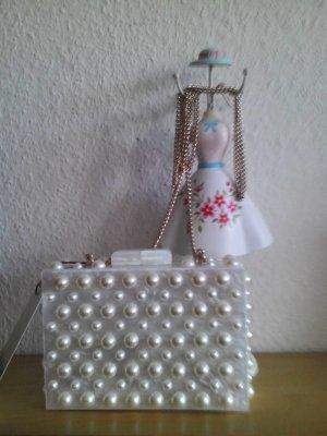 wunderschöne kleine Umhängetasche/Clutch mit Perlen, Party-Look, neu