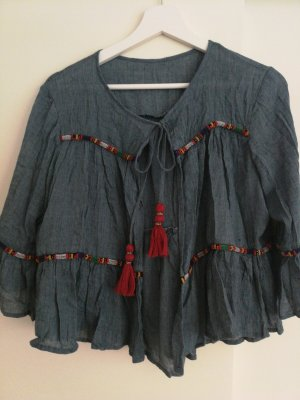 Blouse en crash gris ardoise