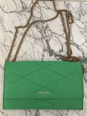 Lanvin Clutch green leather