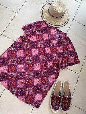 Lascana Blusa de manga corta rosa-violeta