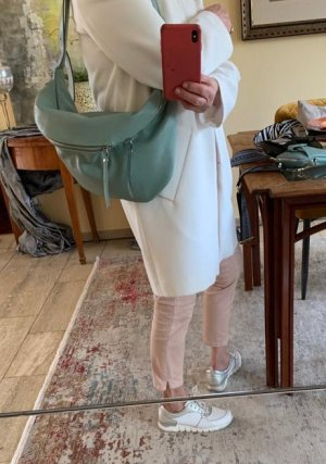 Börse in Pelle Crossbody bag pale blue-sage green leather