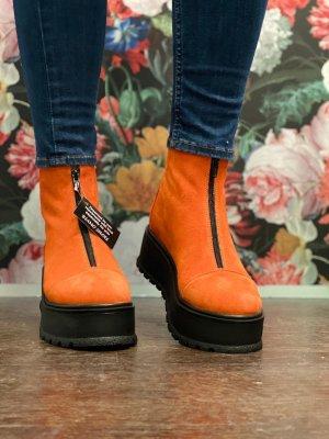 Botas de tobillo naranja