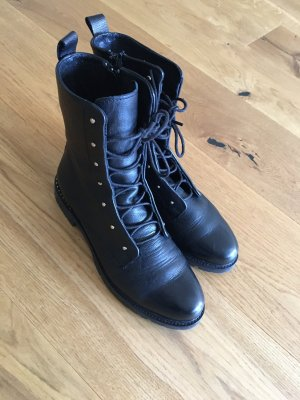 Tango Lace-up Booties black leather