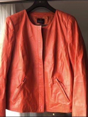 Wunderschöne Lederjacke von Madeleine Nappaleder Orange