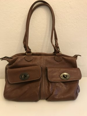Bric's Bowling Bag cognac-coloured