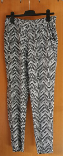 Jaqueline de Yong Pantalone alla turca nero-bianco Tessuto misto