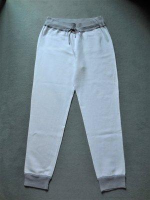 Brunello Cucinelli Pantalone di lino bianco-grigio chiaro Lino