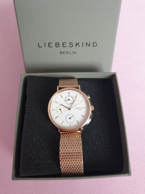 Liebeskind Watch With Metal Strap rose-gold-coloured