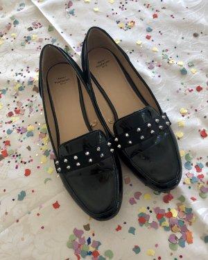 Zara Patent Leather Ballerinas black