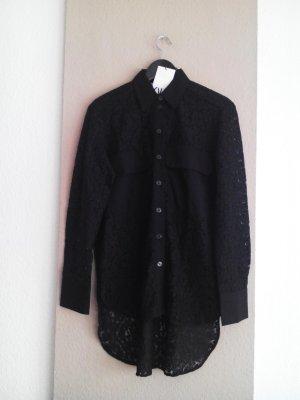 wunderschöne Long-Bluse aus Blumenspitzen, Premium Qualität, Größe S, neu