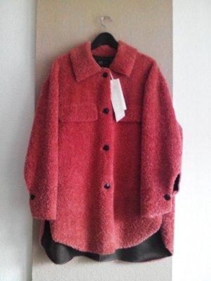 Zara Trafaluc Fur Jacket rose-gold-coloured polyester