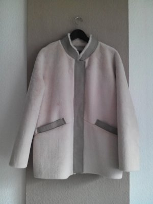 Zara Veste en fausse fourrure rose chair-beige clair polyester