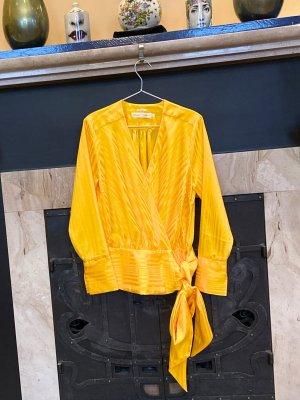 Wunderschöne Luxusbluse (Wickelbluse) von InWear, in gelb, Gr. 36 (S) auch XS 34