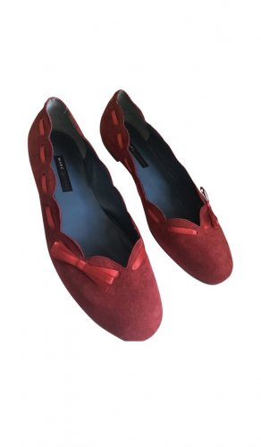 Marc Jacobs Ballerina a punta rosso-rosso scuro