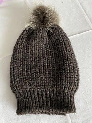 Knitted Hat dark brown