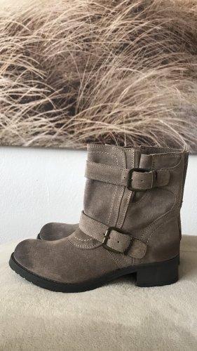 Wunderschöne nagelneue Wild Leder Boots * Original Wrangler-Biker-Boots * UK-Größe 6 * entspricht ca. 39