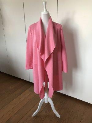 Wunderschöne, offene Jacke aus 100% Wolle in zartem rosa!
