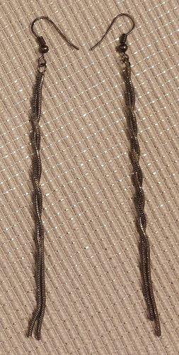 Pendientes colgante color plata-gris antracita