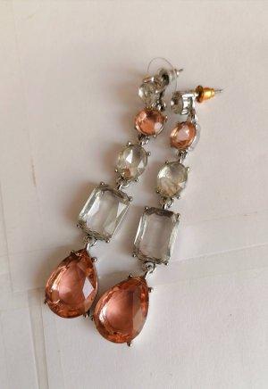 Wunderschöne Ohrhänger in Rosé und Weiß, neu und ungetragen