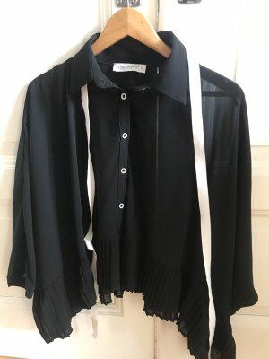Rinascimento Blusa trasparente nero-bianco