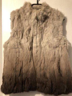Fur vest multicolored pelt