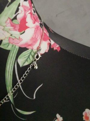Collana argento-bianco Tessuto misto