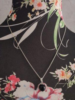 Wunderschöne Perlenkette Kette schwarz