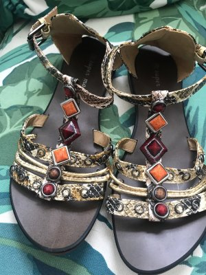 Wunderschöne Riemchen-Sandalen mit Schmucksteinen
