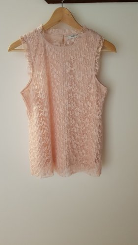 Wunderschöne roséfarbene Bluse Plissee