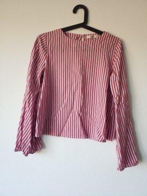 wunderschöne rot rosa blau gestreifte Bluse von Pull & Bear. Größe M, keine Makel!