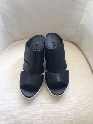 Paul Green Sandalias cómodas blanco-negro