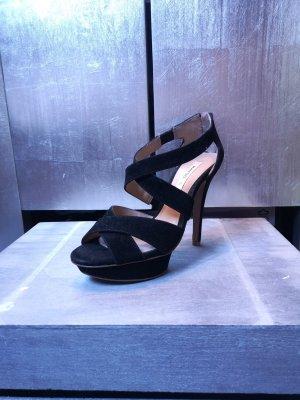 Wunderschöne Sandaletten von Mango Gr 37 Highheels High Heels Pumps schwarz Sandalen Riemchensandaletten High Heels Highheels schwarz Absatz edel