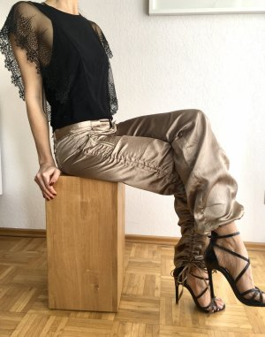Harem Pants gold-colored-grey brown