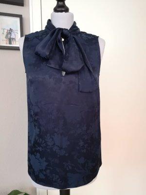 Part two Tie-neck Blouse blue-dark blue