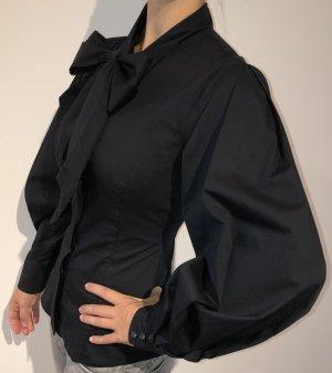 Mango Suit Blusa con lazo negro